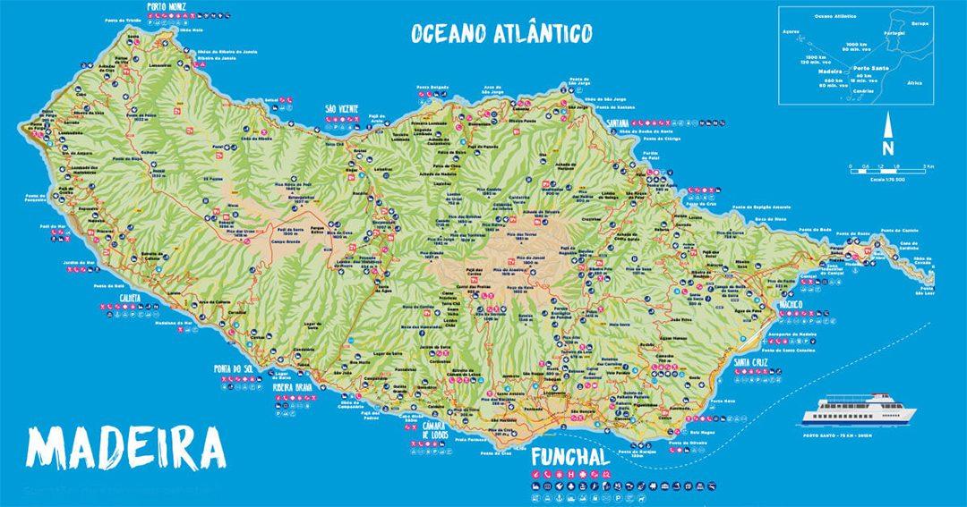 Madeira island map